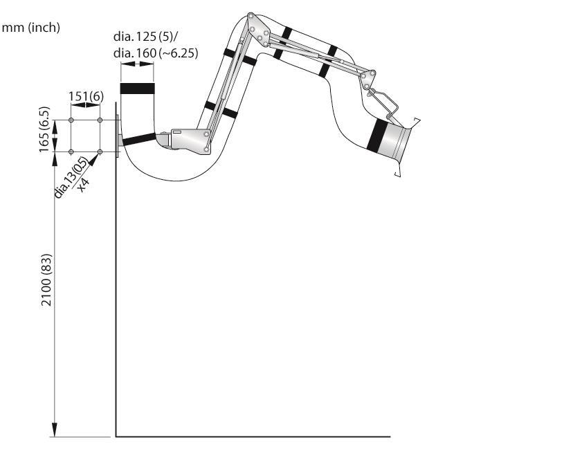 Extraction Arm NEX S Ø160