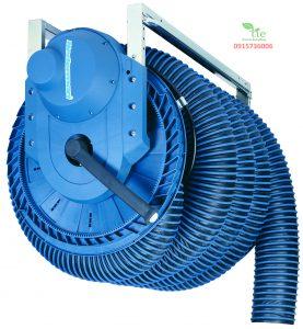 Electric Motor Driven Exhaust Hose ReelElectric Motor Driven Exhaust Hose Reel Hoạt động thông qua cánh tay hoặc điều khiển IR hoặc điều khiển mặt dây chuyền. Trên cuộn có một mắt nhận diện cho thấy trạng thái hoạt động. Công tắc giới hạn trên và dưới điện tử làm giảm nguy cơ hỏng hóc và hao mòn không cần thiết của vòi. Quạt bắt đầu/dừng được điều khiển tự động. Thiết kế nhỏ gọn, hiện đại. Ứng dụng hút khói bụi trongcác nhà máy, xưởng có trần cao, nơi cần cần cầu trên cao, hút khói từ nguồn như khói xe ô tô, khói bụi sửa chữa,... Bảo hành: 10 năm. Sản phẩm thuộc Nederman Sản xuất tại Thuỷ Điển