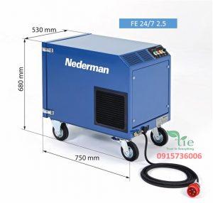 Máy khử khói 24/7 2.5Máy khử khói 24/7 2.5 tự động làm sạch bộ lọc, quạt kênh bên với công suất cao và tất cả những giá trị đặc biệt mà một sản phẩm của Nederman mang lại. Nâng cấp với chức năng khởi động/dừng tự động có sẵn để vận hành thân thiện với người dùng và cải thiện hiệu quả năng lượng. Thiết bị đi kèm với cáp điện dài 5m với phích cắm CEE. Bẫy tia lửa tích hợp bảo vệ FE 24/7 khỏi tia lửa và giảm thiểu nguy cơ hư hỏng hộp lọc. Khói được hút ra hiệu quả trong thời gian hàn dài ca nhờ máy thổi khí bên kênh chạy liên tục, hiệu quả và không cần bảo dưỡng. Dễ dàng điều chỉnh lưu lượng gió tùy thuộc vào ứng dụng giúp cải thiện năng suất và hiệu quả năng lượng. Làm sạch bộ lọc hiệu quả và tự động đảm bảo tuổi thọ bộ lọc lâu dài với chi phí vận hành thấp. Sản phẩm thuộc Nederman Sản xuất tại Thuỷ Điển Bảo hành 1 năm.