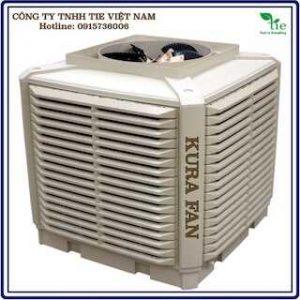 Máy làm mát KURA FAN Model: KF30AMáy làm mát KURA FAN Model: KF30A có đặc điểm làm mát không khí nhờ quá trình bay hơi nước hấp thụ hơi nóng bêntrong máy xuyên qua hệ thống màn nước. Máy làm mát KURA FAN Model: KF30A áp dụng đối với môi trường kĩ thuật của điện ba pha, bên cạnh cài đặt xa , ít tiếng ồn, nhà máy công nghiệp cần cung cấp gió trực tiếp hoặc qua ống cung cấp khí dài.