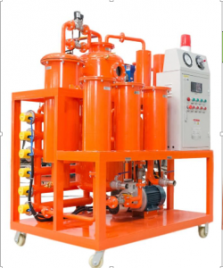 Vacuum Oil Purification Machine (1) vacuum oil purifier with filtration, degassing, dehydration, oil heating, transformer evacuation, (2) Purified Oil characteristics Water< 50ppm Gas< 0.1% Particles < 1 micron Clean degree≤4 Grade (NAS1638) Flow rate: 100 -300 L/H Vacuum degree: MPa -0.06 ~0.95 Working pressure: MPa < 0.4 Temperature degree: oC 0~100 Power Supply: 3 phase, 380V, 50 HZ Workig Noise: 75 dB(A) Power heating: Kw18 Total power: Kw 21 inlet ( outlet) Caliber: mm ⌀20 Size: 1400 x900 x1500, Weight 300kg Technology: Japan Manufactur: China